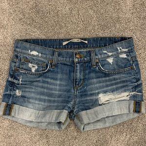 Joes Jean Shorts Medium Distressed Wash
